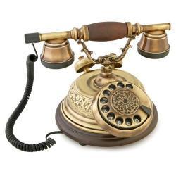 El Dekorlu Kubbeli Telefon