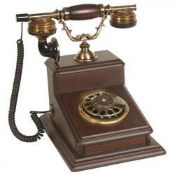 Büyük Büro Ceviz Ahşap Telefon