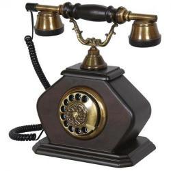 Kristal Konak Ceviz Ahşap Telefon