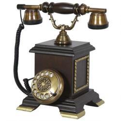 Saray Konak Ceviz Ahşap Telefon
