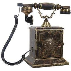 Kapaklı Konak Ferforje Ahşap Telefon