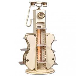 Işıklı Gitar CD lik Ahşap Telefon