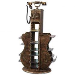 Işıklı Gitar CD lik Ferforje Telefon