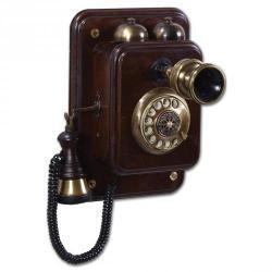 Büyük Duvar Yarım Kollu Ahşap Telefon