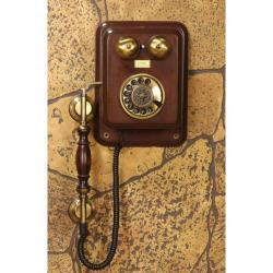 Büyük Duvar Tam Kollu Ahşap Telefon