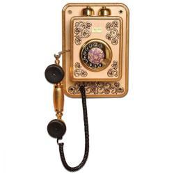 Büyük Duvar İşlemeli Varaklı Telefon