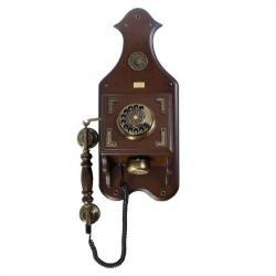 Büro Duvar Ceviz Ahşap Telefon