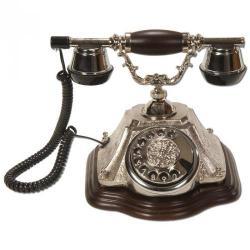 Piramit Gümüş Varaklı Klasik Telefon