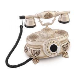 Venüs Gümüş Varaklı Swarovski Taşlı Telefon