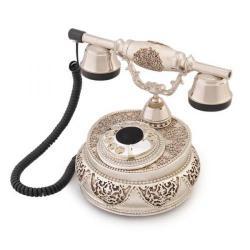 Villa Gümüş Varaklı Swarovski Taşlı Telefon