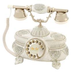 Venüs Ç.Beyaz Gümüş Varaklı Taşlı Telefon