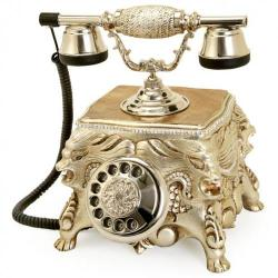 Gümüş Varaklı Aslanlı Swarovski Taşlı Telefon