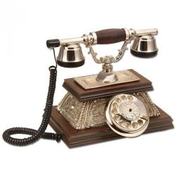 Yalı Gümüş Varaklı Klasik Ahşap Telefon