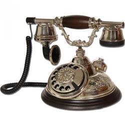 Oval El Dekorlu Kubbe Klasik Telefon
