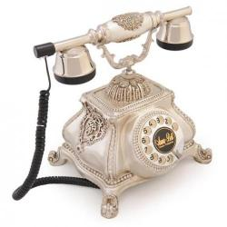 Meltem Gümüş Varaklı Swarovski Taşlı Telefon