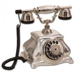Meltem Gümüş Varaklı Porselen Telefon
