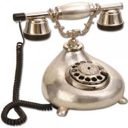 Damla Gümüş Varaklı Porselen Telefon