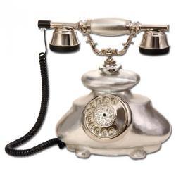 İtalyan Gümüş Varaklı Porselen Telefon