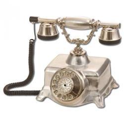 Şato Gümüş Varaklı Porselen Telefon