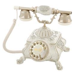 Meltem Ç.Beyaz Gümüş Varaklı Telefon