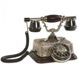 Şato Gümüş Varaklı Klasik Ahşap Telefon