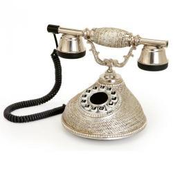 Damla Gümüş Varaklı Swarovski Taşlı Telefon