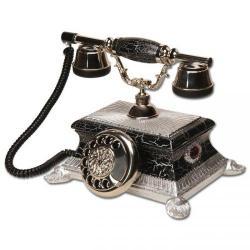 Etekli Yalı Siyah Gümüş Varaklı Telefon