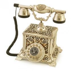 Konak Antik Gümüş Varaklı Telefon