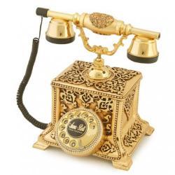 Konak Antik Altın Varaklı Telefon