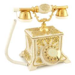 Konak Antik Beyaz Altın Telefon
