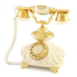 İtalyan Burmalı Çatlak Beyaz Telefon