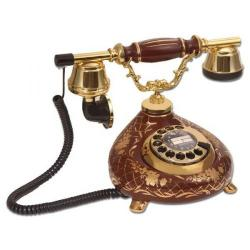 Porselen Damla Kahverengi Telefon