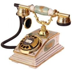 Porselen Büro Yeşil Telefon