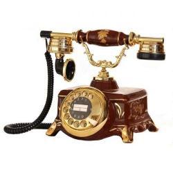 Porselen Şato Kahverengi Telefon