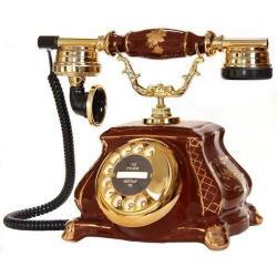 Porselen Meltem Kahverengi Telefon