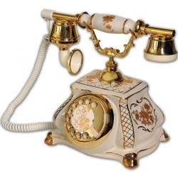 Meltem Porselen Beyaz Antika Telefon