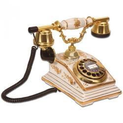 Büro Porselen Beyaz Antik Telefon