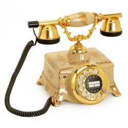 Porselen Şampanya Şato Klasik Telefon