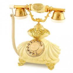 İtalyan Burmalı Şampanya Varaklı Telefon