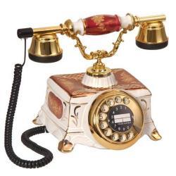 Porselen Bordo Beyaz Şato Telefon