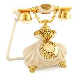 İtalyan Burmalı Kemik Varaklı Telefon