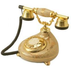 Porselen Damla Krem Klasik Telefon