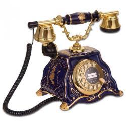 Barok Kobalt Porselen Antik Telefon