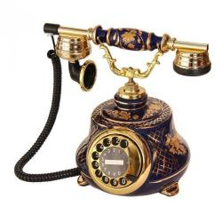 Porselen Tombul Kobalt Telefon