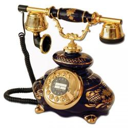 Porselen İtalyan Kobalt Telefon