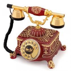 Şato Altın Varaklı Swarovski Taşlı Bordo Telefon