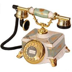 Porselen Şato Yeşil-Beyaz Telefon