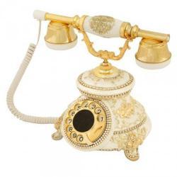 Güllü Beyaz Varaklı Swarovski Taşlı Telefon