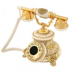 Güllü Kemik Varaklı Swarovski Taşlı Telefon