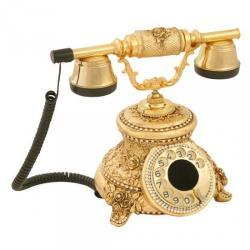Güllü Altın Varaklı Swarovski Taşlı Telefon